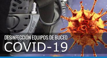 desinfección equipos de buceo por COVID-19